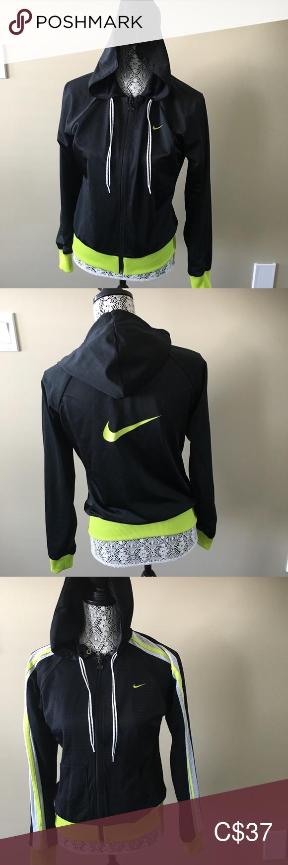 Predownload: Nike Reversible Athletic Zip Up Hoodie Size M Hoodies Zip Ups Black Nikes [ 1740 x 580 Pixel ]