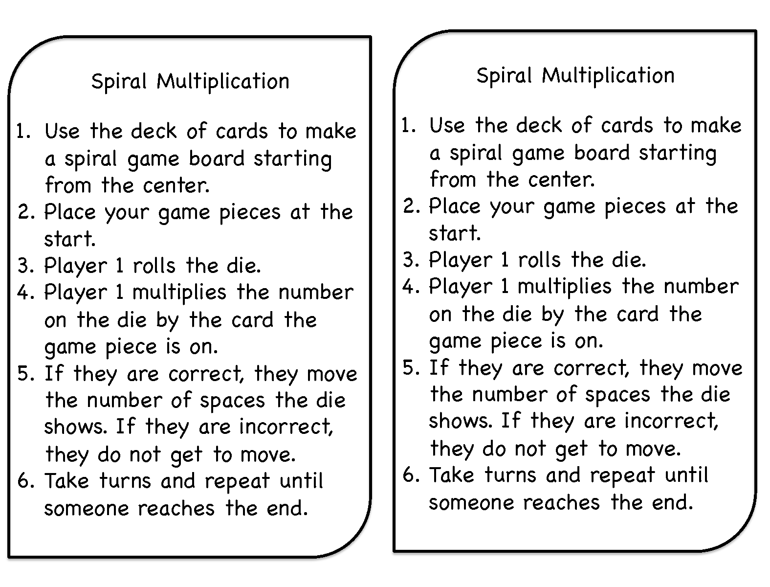 Spiral Multiplication A Favorite Game Of The Year