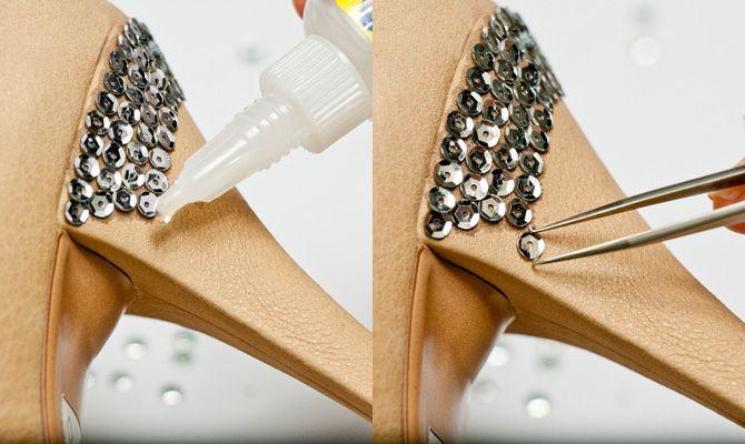 232fd3a7e6c DIY Shoe Makeover: Embellished Heels | shoe makeovers | Shoe ...
