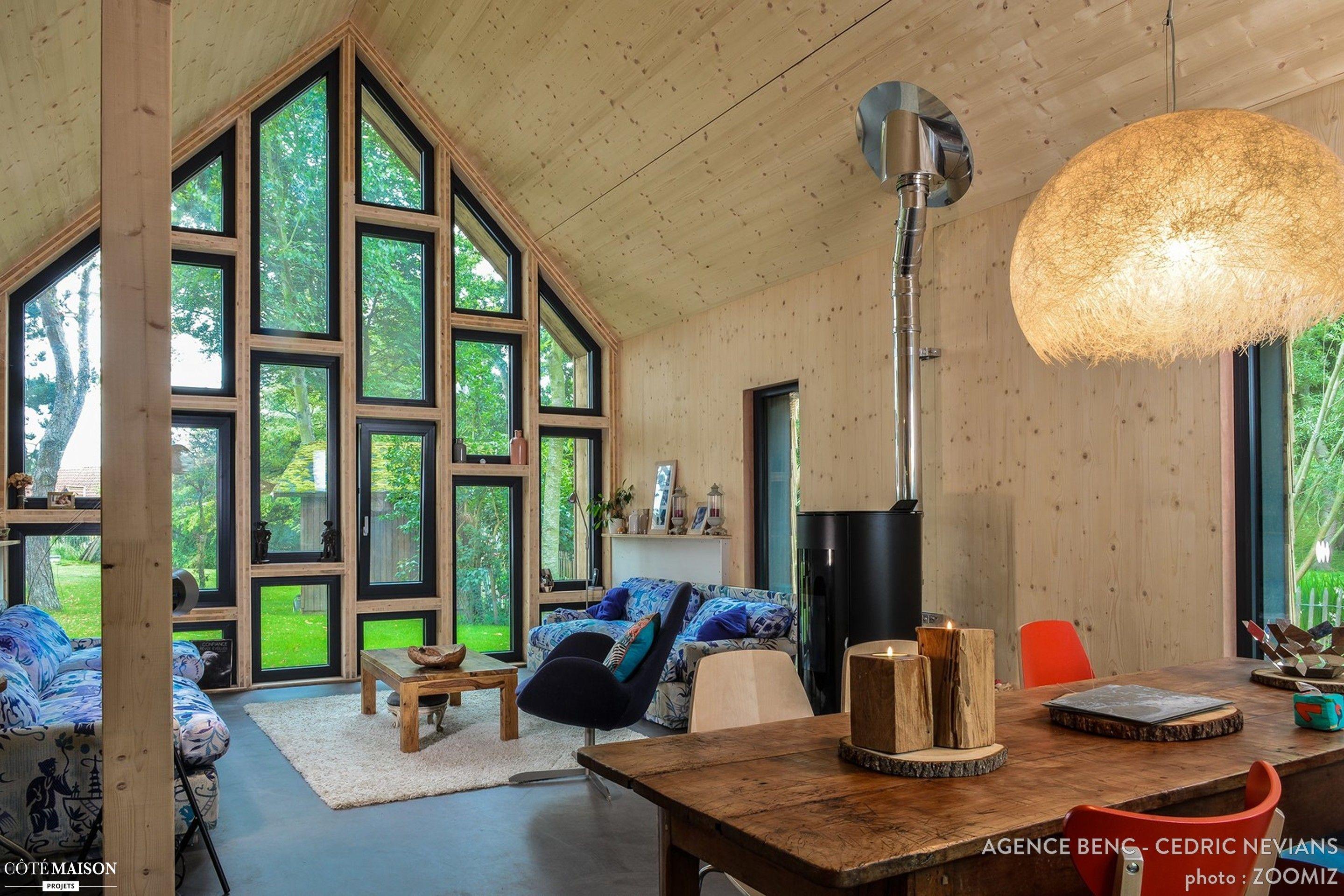 Un mur fait de verri¨res pour un salon lumineux et design