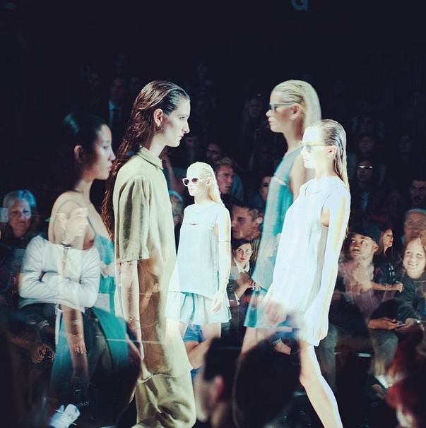 Super cool capture of our SS'13 runway show at WMCFW