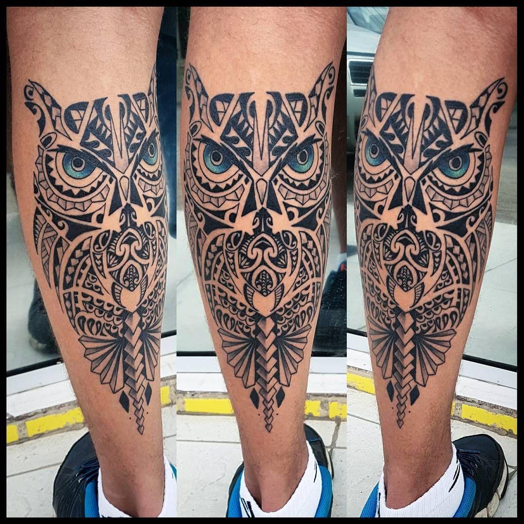 Resultado de imagem para owl tattoo maori