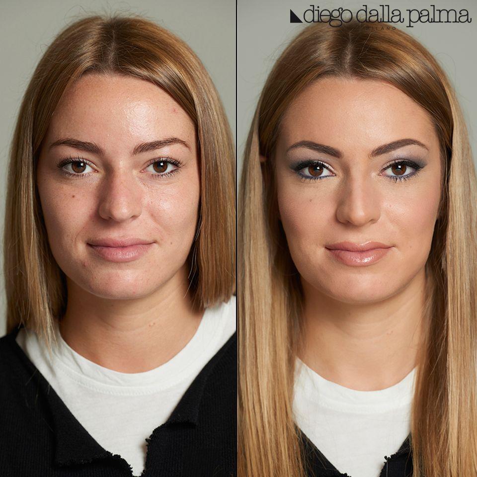 Before & After by diego dalla palma milano #motd #beforeandafter #makeup #beauty #cosmetics #vivianaveglia #mua