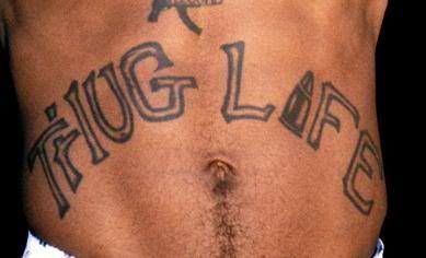 "A close up to Tupac's legendary ""THUG LIFE"" abdominal tattoo   Tupac, Tupac  shakur, Tattoos"
