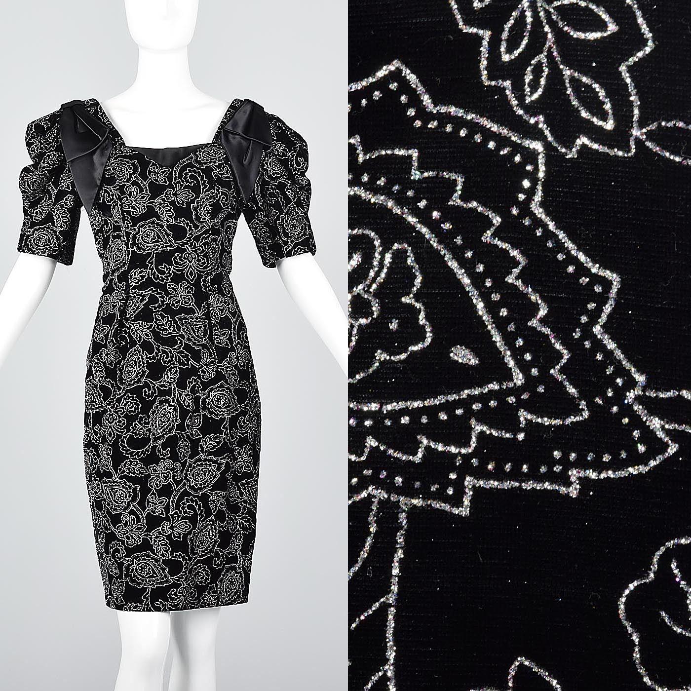 Cool amazing m vintage s s unique neckline dress sparkly prom