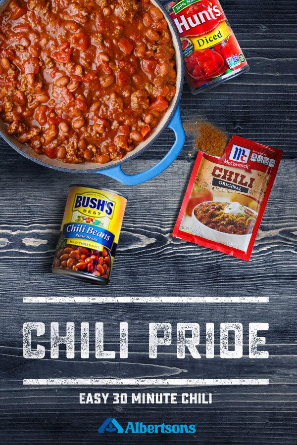 Chili season is upon us with ingredients like juicy hunts with ingredients like juicy hunts tomatoes hearty bushs beans and the zesty blend of mccormick seasoning its easy pinteres forumfinder Gallery