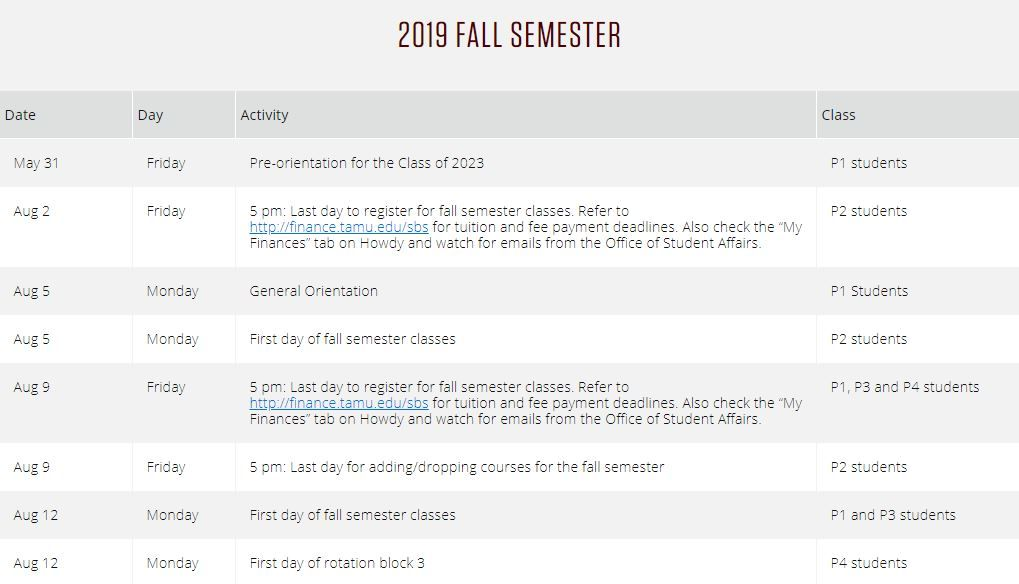 Tamu Fall 2021 Academic Calendar Texas a&m Academic calendar with Holidays Images https://