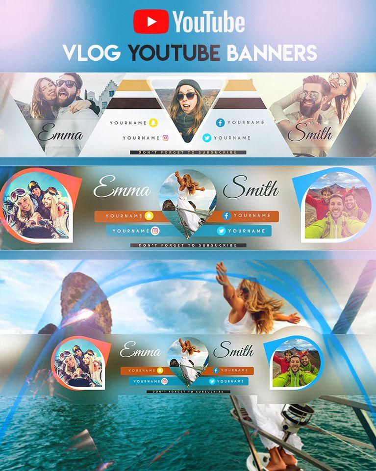 Vlog YouTube Banner Баннер, Дизайн флаера, Флаеры