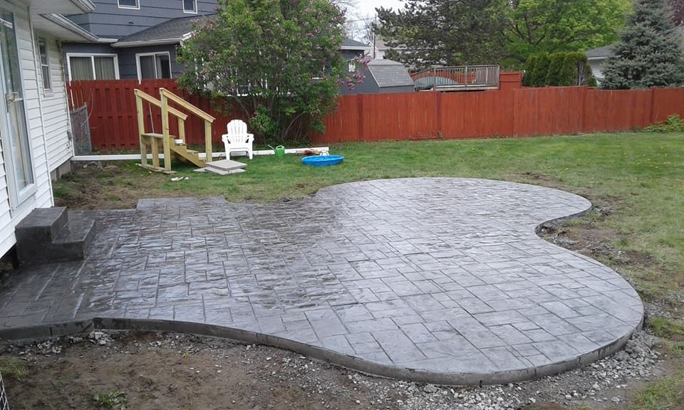 stamped concrete patio greece ny rochester ny stamped concrete