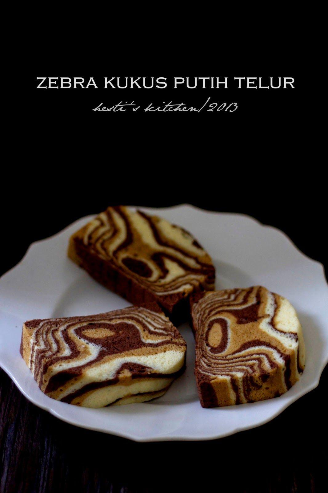 Hesti S Kitchen Yummy For Your Tummy Zebra Kukus Putih Telur Kue Zebra Putih Telur Makanan Manis