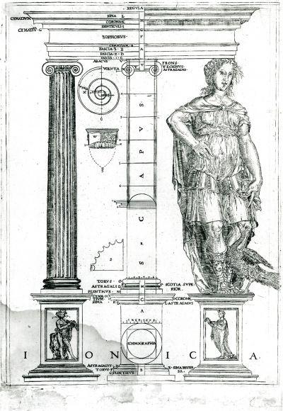 Ionic Order, United Kingdom, John Shute, 1563, from John