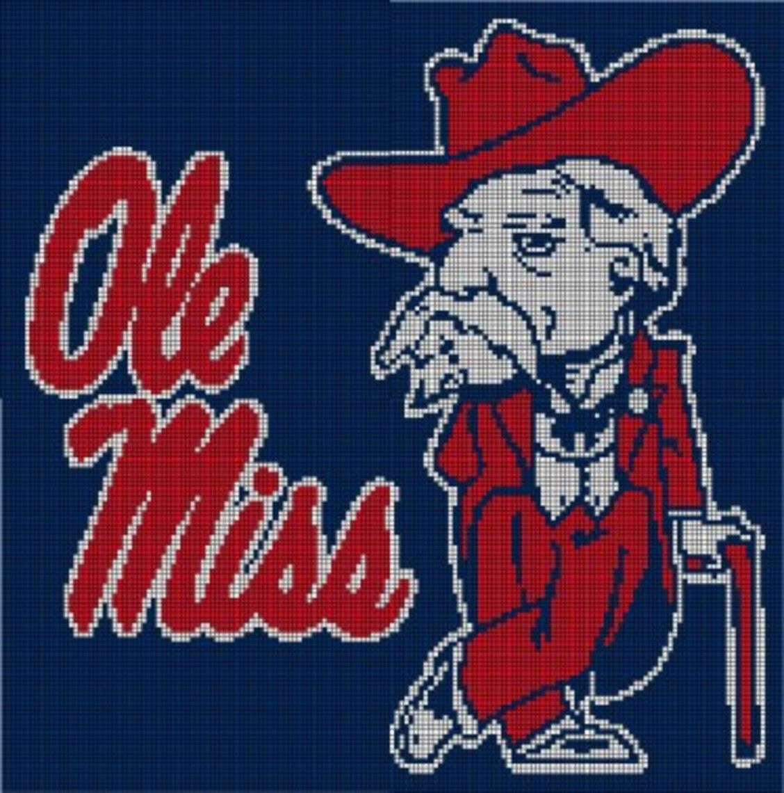 Ole miss rebels crochet pattern afghan graph 35 crochet ole miss rebels crochet pattern afghan graph 35 bankloansurffo Image collections