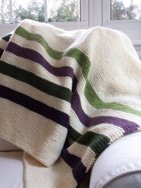 Purl Bee- Hudson's Bay Crib Blanket | Knitted baby ...