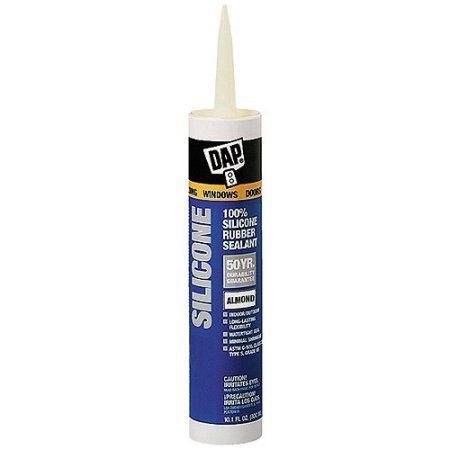 Dap 08649 9 8 Fl Oz Dow Corninga Almond Silicone Sealant Multicolor Products Bathroom Caulk Clear Silicone Silicone Rubber