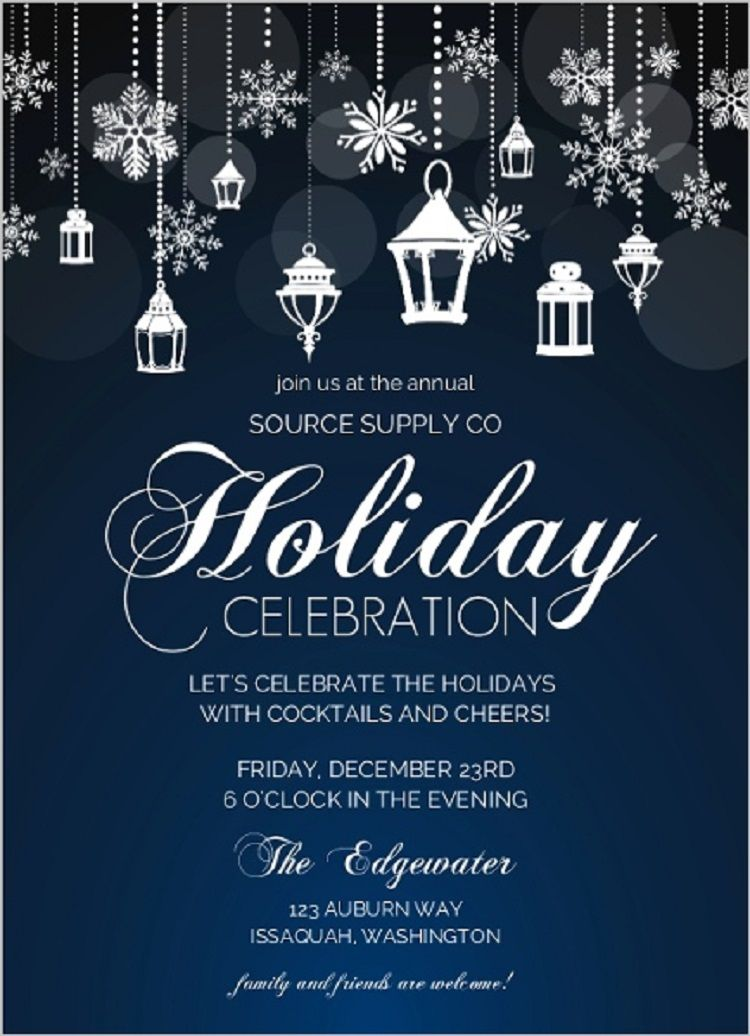 Corporate Holiday Party Invitations Invitation Ideas Pinterest