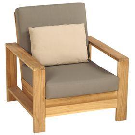 Sill n de madera cayo largo departamentos pinterest for Sillones rusticos de madera