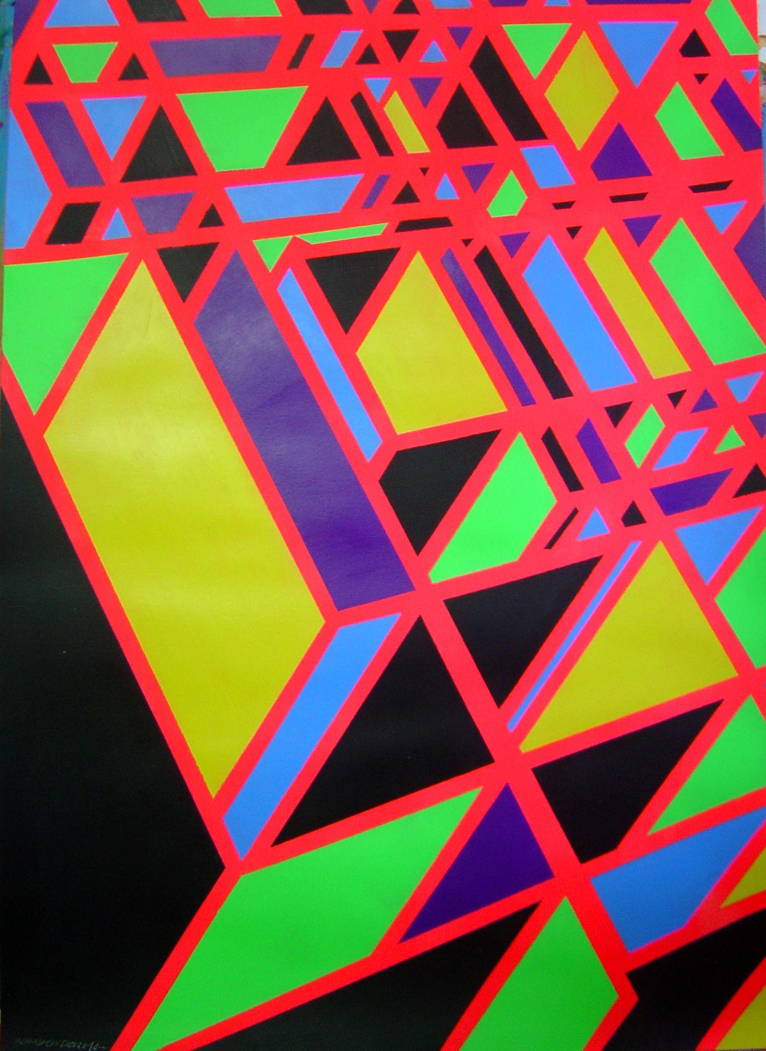 """Die Spinnen I"" Alfonso Cintado Acrylic on paper 70 x 50 cm 2014"