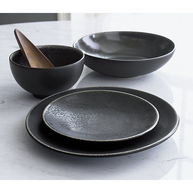 Jars Tourron Aqua Dinner Plate Reviews Crate And Barrel Black Dinnerware Dinnerware Sets Plates