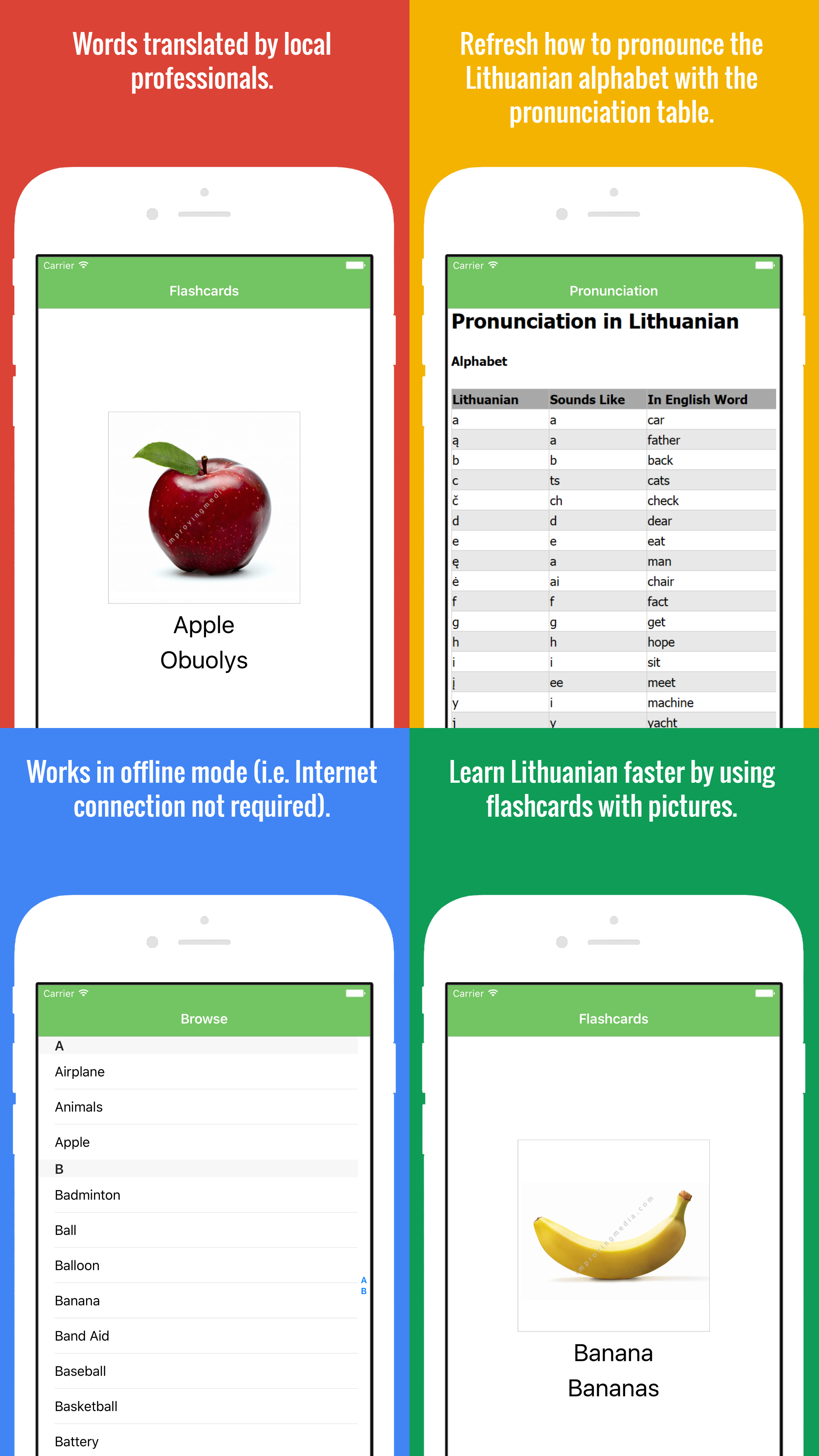 Learn Lithuanian Faster By Using Flashcards With Pictures