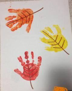 Simple Fall Handprint Crafts