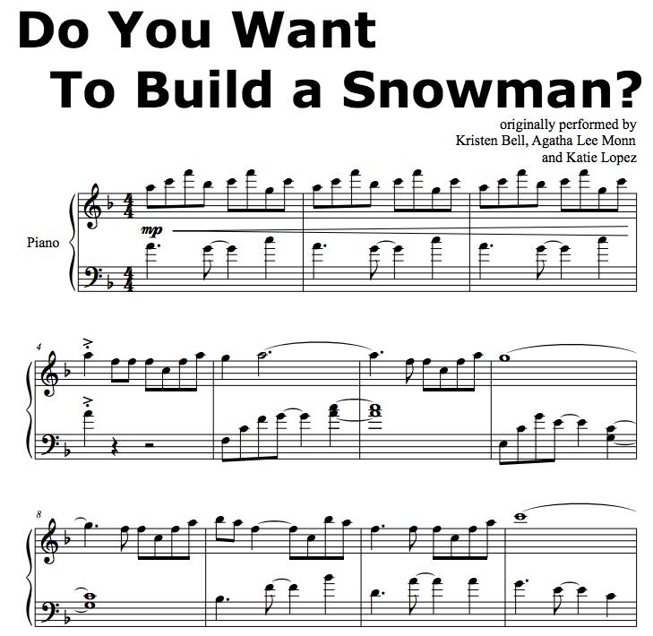 Do You Want To Build A Snowman piano score - Google Search | Piano ...