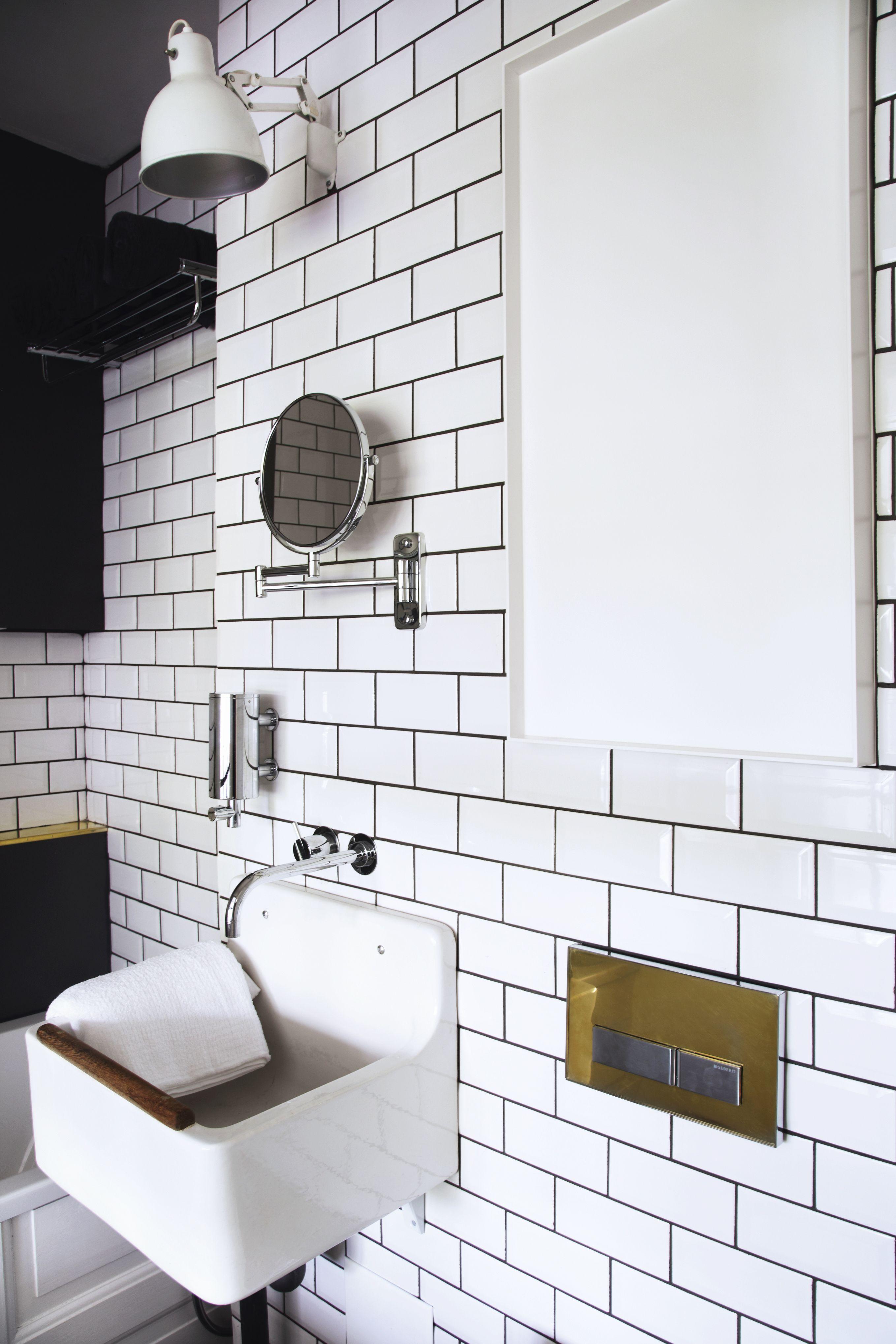 S/H bad i Newyorker-style   Vægge og gulve   Badeværelse, Badeværelse renovering, Badeværelse fliser