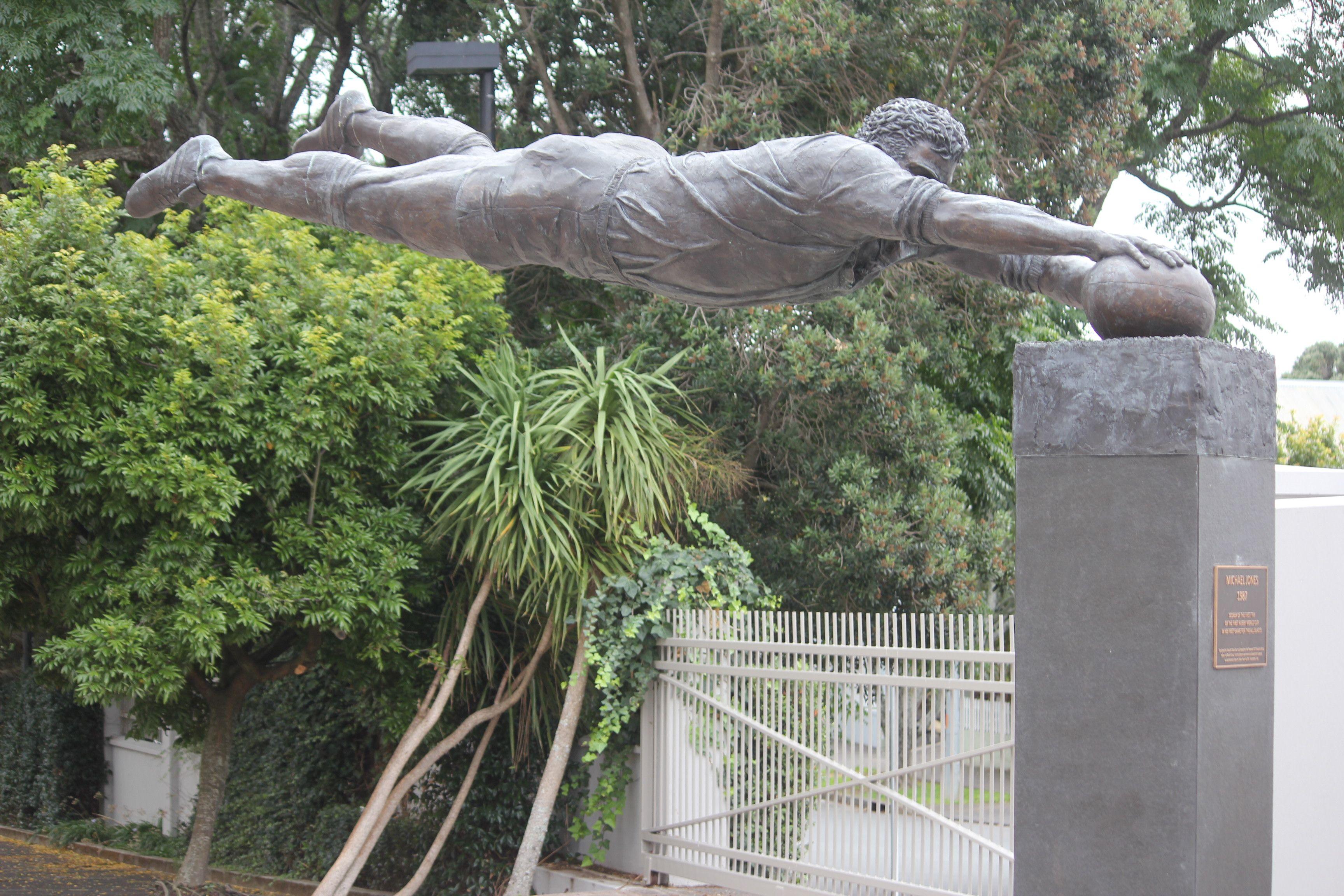 Michael jones statue eden park auckland new zealand - University of auckland swimming pool ...
