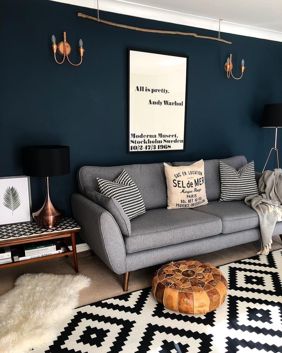 Wall Color Livingroompaintcolorideas Dark Walls Living Room