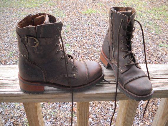 5f98c4789faf42 Vintage HD Harley Davidson Womens Biker Boots by vintagefinds61