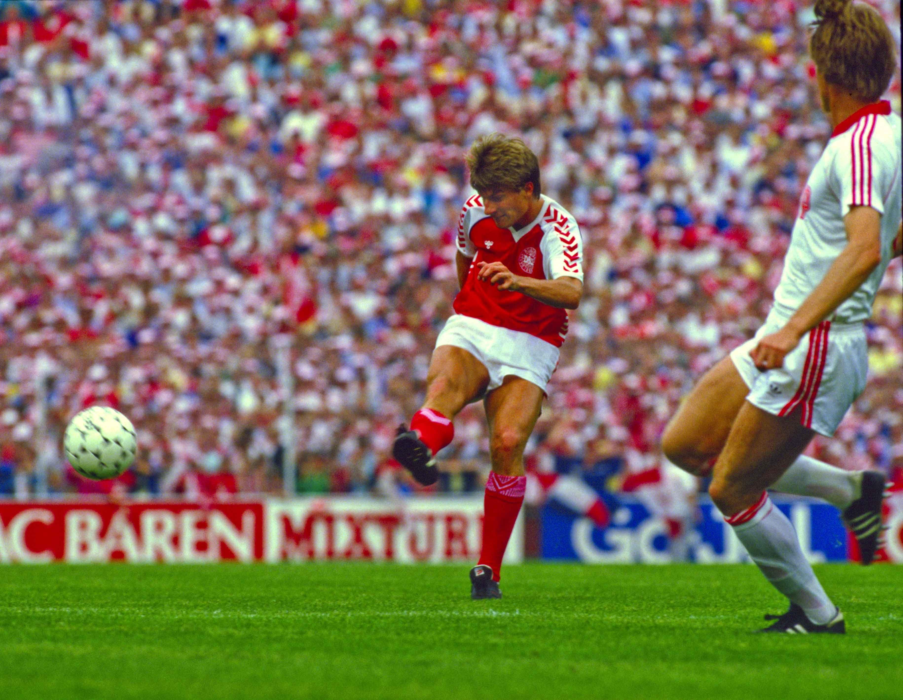 Michael Laudrup Denmak Euro 1992 Michael Laudrup National