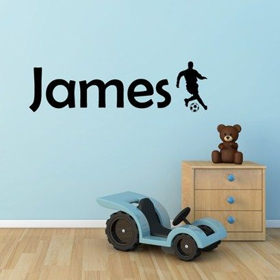 Footballer name wall art from next wall stickers