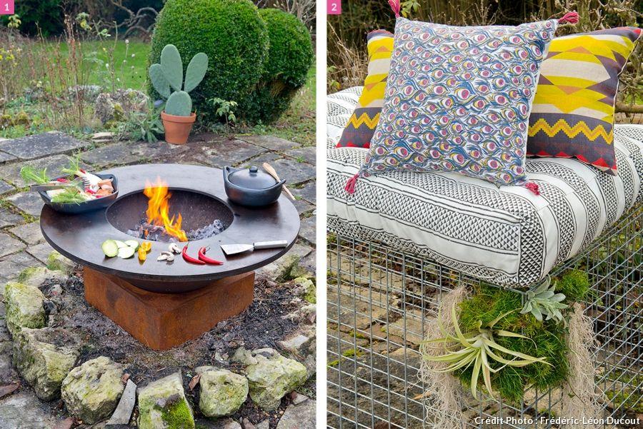 Une déco piquante avec la tendance Folk - banc en pierre pour jardin