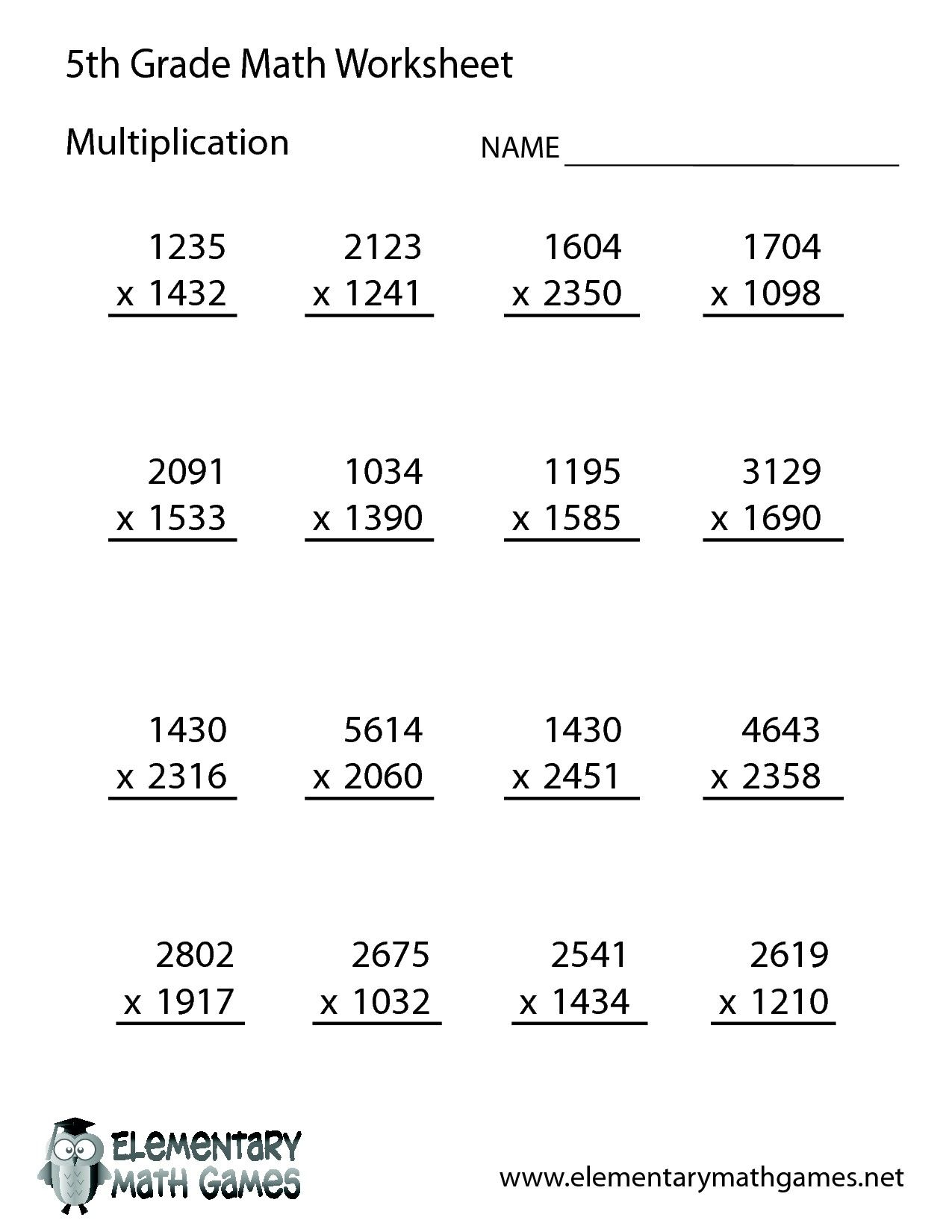 5th Grade Math Worksheets Printable Matematicas De Quinto Grado