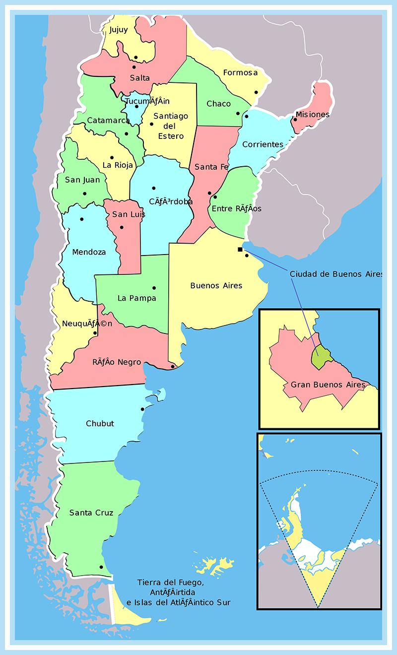 Mapa De Argentina Con Sus 23 Provincias Mapa De Argentina Mapa