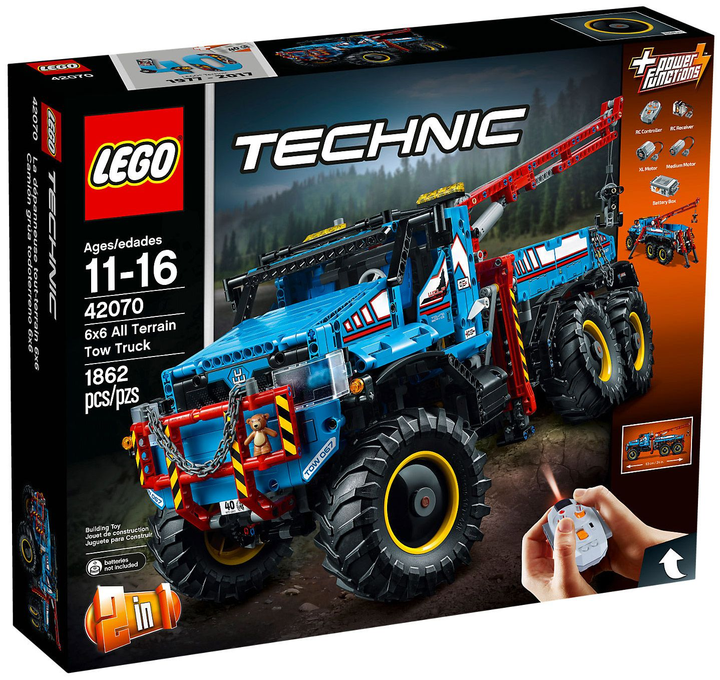 Pin lego 60032 city the lego summer wave in official images on - Lego Technic 42070 La D Panneuse Tout Terrain 6x6 Ao T 2017