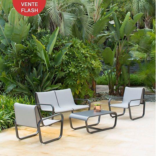 Ensemble Flex POL Sofa 2 places + 2 fauteuils + table basse - Salon ...