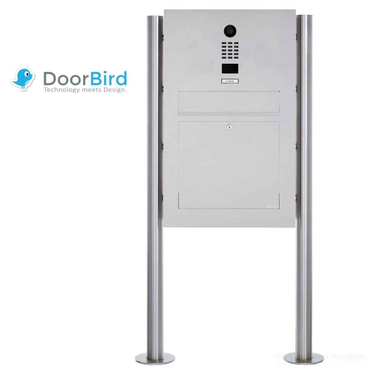 Edelstahl Standbriefkasten Designer Modell Big St R Mit Doorbird Video Sprechanlage Kasten Standbriefkasten Edelstahl