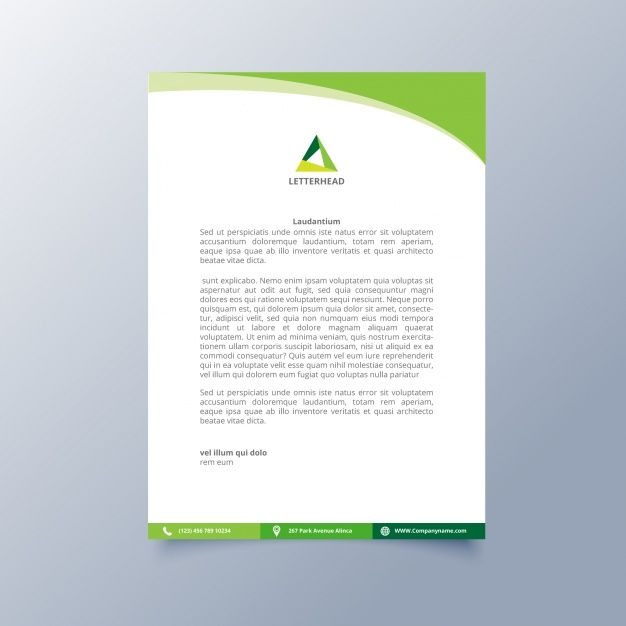 Aeolus Professional Corporate Letterhead Template 001024: Image Result For Letterhead Template