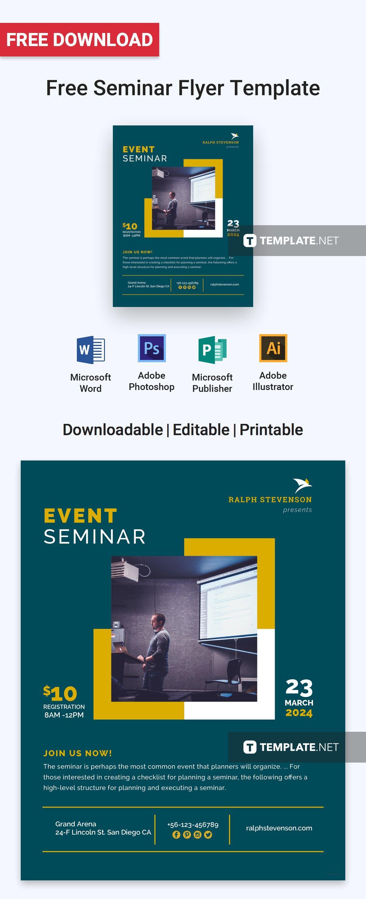 free seminar flyer pinterest flyer template free flyer