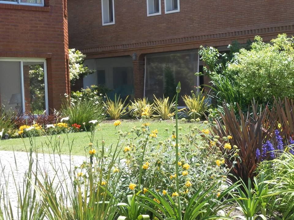 Cantero con arbustos y herbáceas de pleno sol en Canning - St Thomas