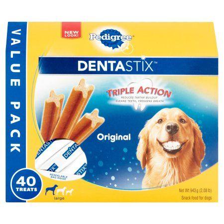 Pedigree Dentastix Large Dental Dog Treats Original 2 08 Lb Value Pack 40 Treats Walmart Com Best Treats For Dogs Dog Food Recipes Dog Snacks