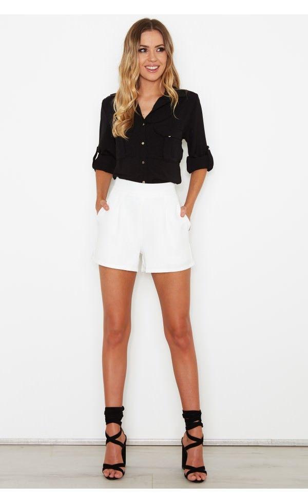 Aphrodite Shirt Black - Tops - Clothing