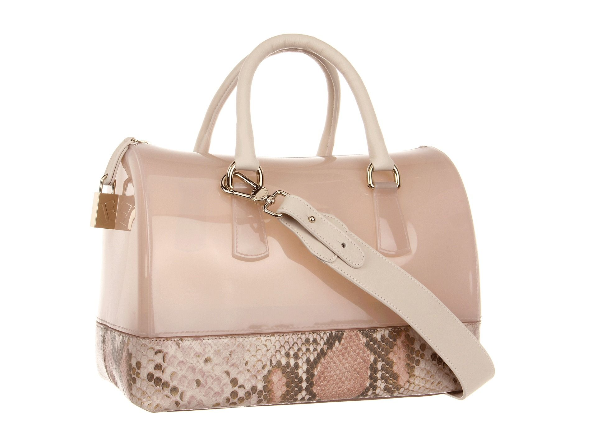 Furla Candy Bag with Leather Rosa - Zappos Couture  b07ba94c38641