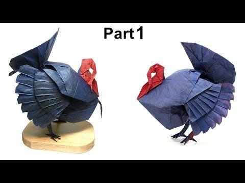 Photo of Origami Turkey tutorial (Katsuta Kyohei) part 1 折り紙 七面鳥 Thanksgiving Day