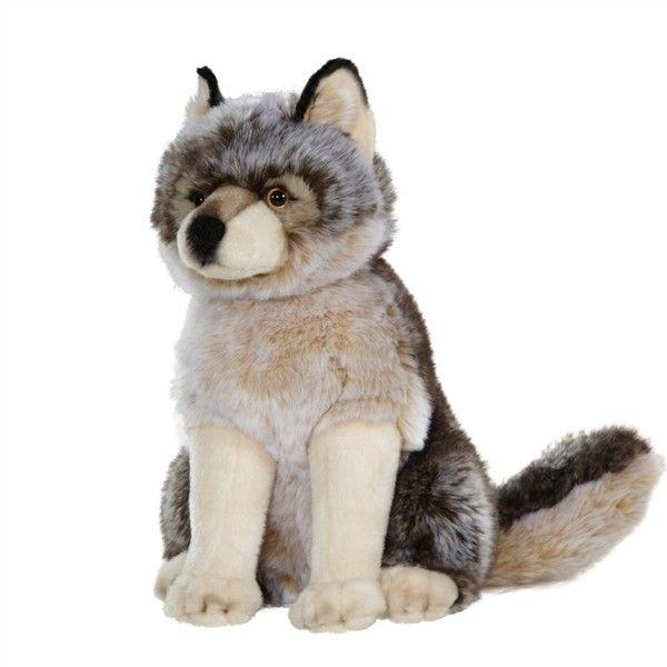 Realistic Stuffed Gray Wolf 15 Inch Signature Plush By Aurora At Stuffed Safari Grey Wolf Animals Wolf