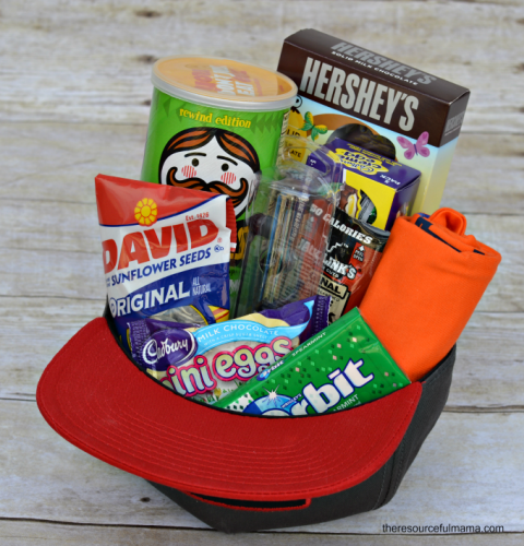 16 creative easter basket ideas your kids will love basket for teen boys every boy will appreciate the creative basket and snacks negle Gallery