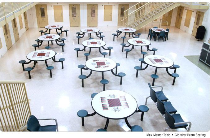 Norix Corrections Furniture Installation: Max Master Game Tables, Gibraltar  Seating