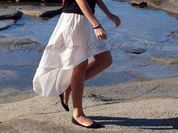 High-Low Skirt Organic Cotton