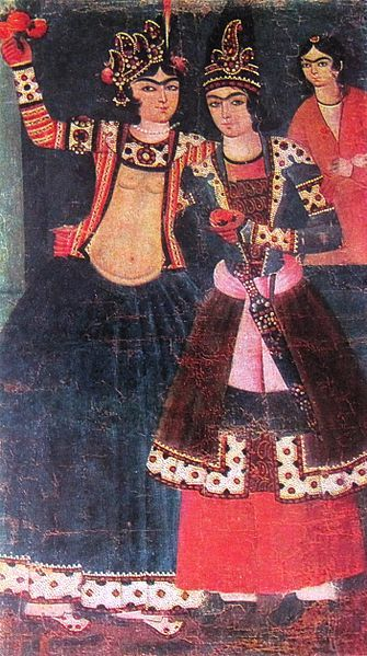 Unknown artist from Iran. Lovers. ca. late 18th-early 19th century.