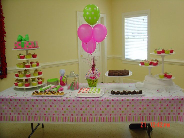 Pink And Green Baby Shower Centerpieces Pink Green Baby